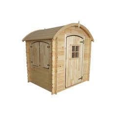 Maisonnette pour enfant en bois  LISON ARRONDIS L120xl80xH26,5 cm
