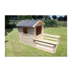 Maisonnette pour enfant en bois LISON TERRASSE  L 120 x l 80 x H 32 cm