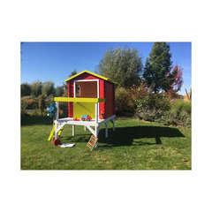 Maisonnette pour enfant en bois LISON PILOTIS  L 120 x l 80 x H 36 cm