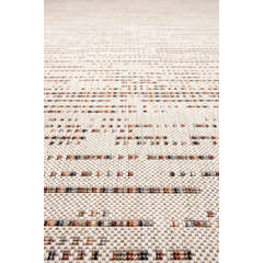 Tapis Togo, Coloris Multicolore/Neige 230 x 160 cm