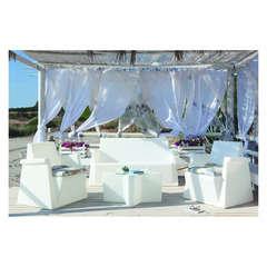 Salon MIAMI ETOILE - 2 fauteuils  canapé 2 pl table basse lumineux
