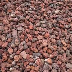 Pouzzolane décorative rouge 7/15 160 Kg