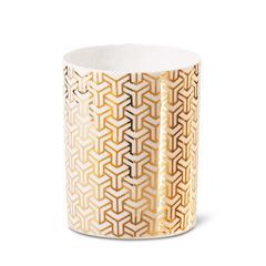 Photophores en porcelaine motif décalcomanie - 4 modèles assortis