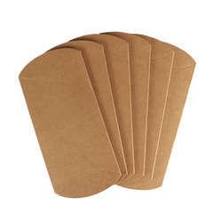 Boîtes cadeaux carton kraft, berlingot 13 x 8 cm x 6pièces