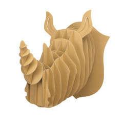 Trophée rhinocéros carton à assembler 25 x 20 x 27 cm