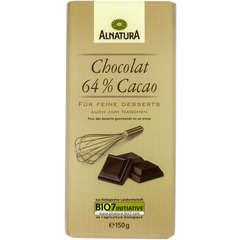 Chocolat bio 64% Cacao 150G