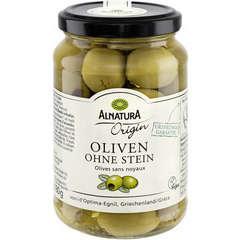 Olives vertes bio sans noyaux 350G