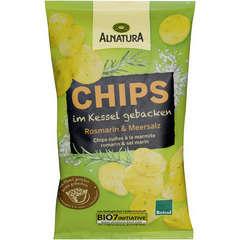 Chips bio cuites à la marmite romarin et sel marin 125G