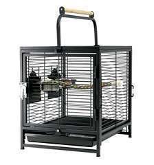 Cage transport oiseaux/perroquets 2 en 1