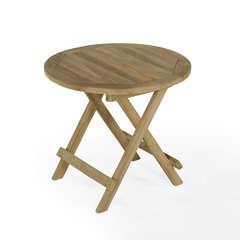 Table basse pliante ronde en teck Kuta ø 50 cm