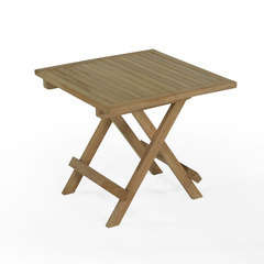 Table basse pliante carrée en teck Kento 50 x 50 cm
