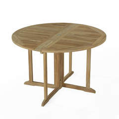 Table pliante ronde en teck Domingue ø 120 cm