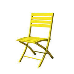 Chaise pliante MARIUS en aluminium - JAUNE