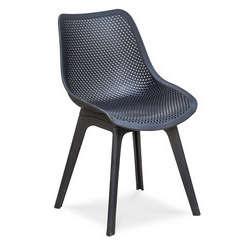 Chaise SCANDI en PVC perforé - NOIR