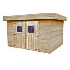 Abri de jardin en bois 2 portes  - 5,56 m²