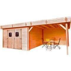 Abri de jardin en bois 2 portes  - 8,43 m²