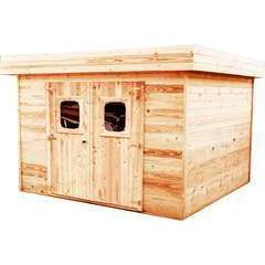 Abri de jardin en bois 2 portes  - 13,47 m²