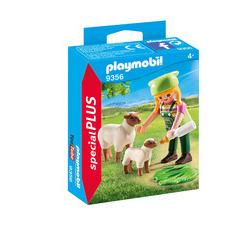 Figurine : Fermière avec moutons