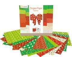 Papier Origami Noël2, 60 feuilles, 70g et stickers