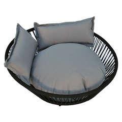 Set corbeille noir 3 coussins L.50cm