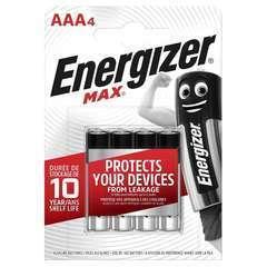 Piles Alcalines Energizer Max AAA/LR3, pack de 4