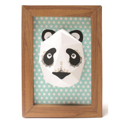 Mini trophée panda avec cadre à construire