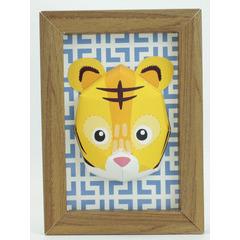 Mini trophée tigre avec cadre à construire
