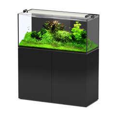 Aquarium avec meuble Aquaview en bois noir - 278 litres