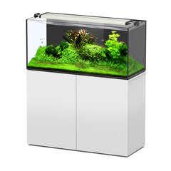 Aquarium avec meuble Aquaview en bois blanc - 278 litres