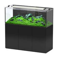 Aquarium avec meuble Aquaview en bois noir - 415 litres