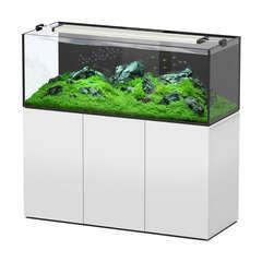 Aquarium avec meuble Aquaview en bois blanc - 415 litres