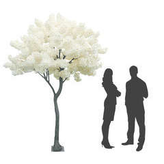 Arbre Géant Pommier artificiel en fleurs blanches 16 branches H270cm