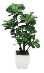 Ficus lyrata artificiel en pot céramique blanc 54 cm