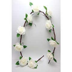 Guirlande de Roses blanches artificielles Longueur 180cm