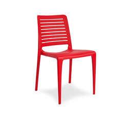 Chaise de jardin PARK polypropylène renforcé en fibre de verre - ROUGE