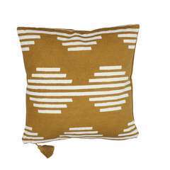 Coussin ocre 50x50 cm
