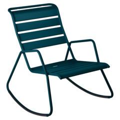 Rocking chair monceau bleu acapulco
