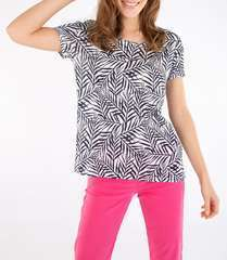 T-shirt imprimé Palm Navy blanc - lin - Taille 3