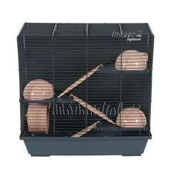 Cage INDOOR2 Hamster triplex 50cm rose