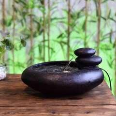 Fontaine d'Intérieur Nature Yashi avec Eclairage Led