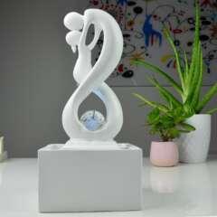 Fontaine d'Intérieur Moderne Amor Blanc avec Eclairage Led