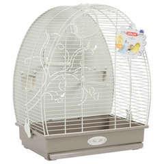 Cage Arabesque Alice de 40cm pour Oiseaux - Taupe