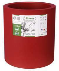 Bac Granit rond 40 rouge
