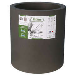 Bac Granit rond 40 gris