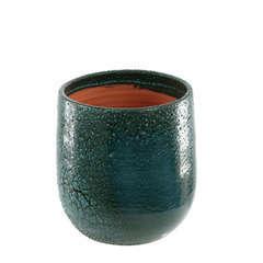 Pot Saintropp blue wawe D.17 x H.19 cm