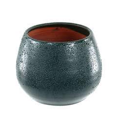 Pot Cancale blue wawe D.17 x H.17 cm