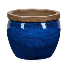 Pot Bonn 1-01B bleu D.28 x H.23 cm