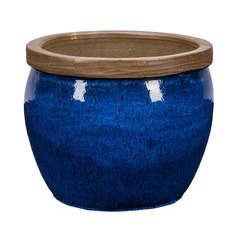 Pot Bonn 1-01B bleu D.36 x H.30 cm