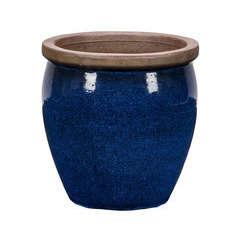 Pot Bonn 1-02B bleu D.38 x H.38 cm