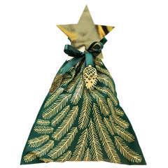 Noël sac cadeau grand sapin vert